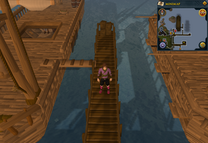 Emote clue Panic Fishing Trawler pier