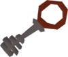Steel key red detail