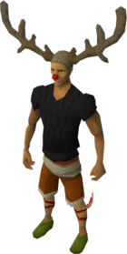 Reindeer hat equipped
