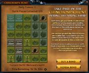 Chinchompa Hunt interface