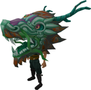 Green zodiac costume (head) equipped
