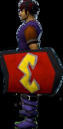 Rune kiteshield (Zamorak) equipped