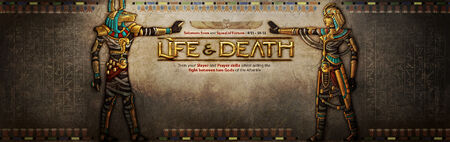 Life and Death banner