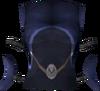 Elf-style dress top (blue) detail