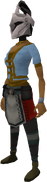 Rune heraldic helm (Horse) equipped