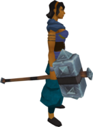 Barbarian maul equipped