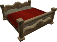 Large oak bed built