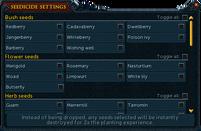 Seedicide interface