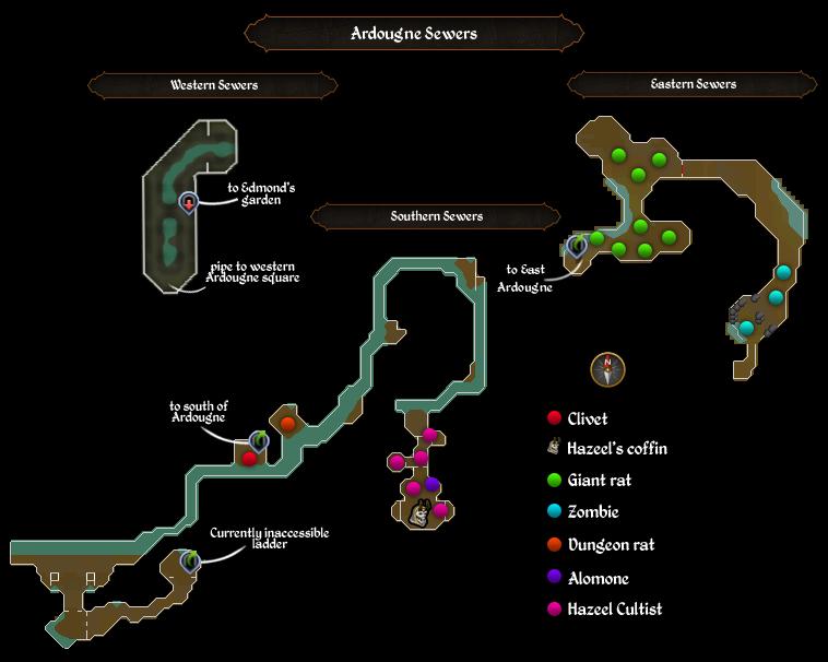 Ardougne Sewers map