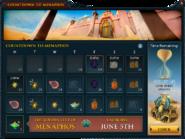 Countdown to Menaphos interface