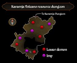 Karamja Volcano resource dungeon map