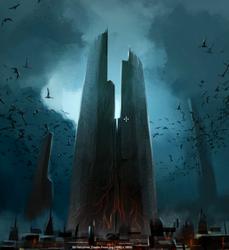 Castle Drakan front concept art