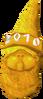 Golden gnome hat 2010 detail