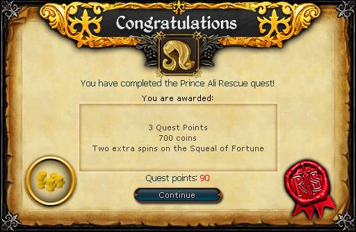 Prince Ali Rescue reward