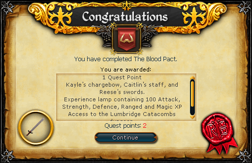 The Blood Pact reward