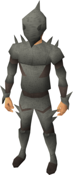 Spined armour equipped