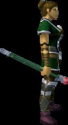 Adamant cane equipped