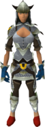 Armadyl dragonhide blessed set equipped (female)
