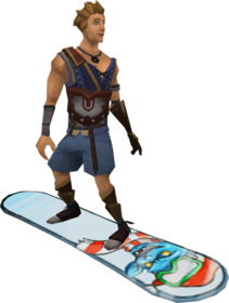 Snowboard (penguin) equipped