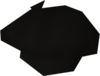 Black beret detail