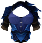 Blue dragonhide body detail