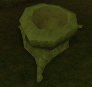 Hollow tree stump