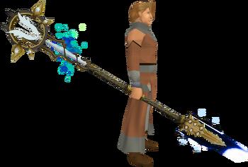 Armadyl Tuska spear equipped
