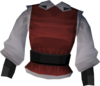 Musketeer's top (red) detail