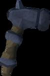 Off-hand katagon warhammer detail