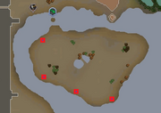 Mysterious stones map