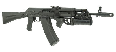 AK-74M 60 round mag and GP-34