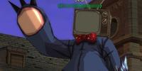Television Cardboard Head