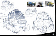 Rusty Rivets Spin Master Nickelodeon Ruby's Vehicle Development Sketches
