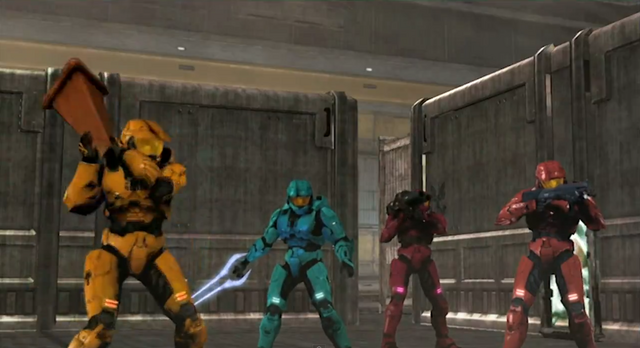 File:Grif, Tucker, Simmons & Sarge stand their ground.png