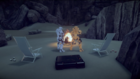 Biff and Temple campfire