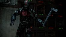 Elite holds axe