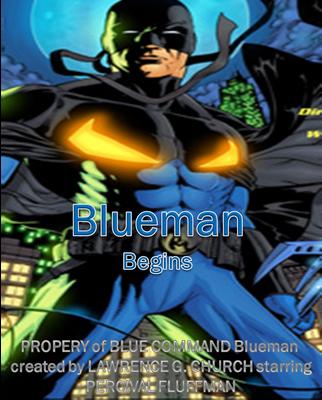 Blueman Begins Logo