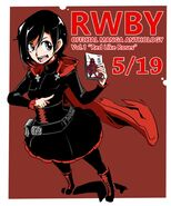 Tribute art of Ruby Rose for RWBY Manga Anthology Red Like Roses by Sakura Saku Xyli