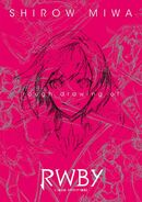 Rough drawing of RWBY by Shirow Miwa cover