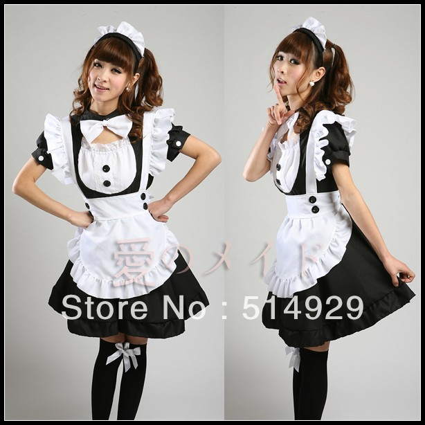 anime cute maid outfits: Cat-costume-anime-servant-SS-cosplay-maid-outfit