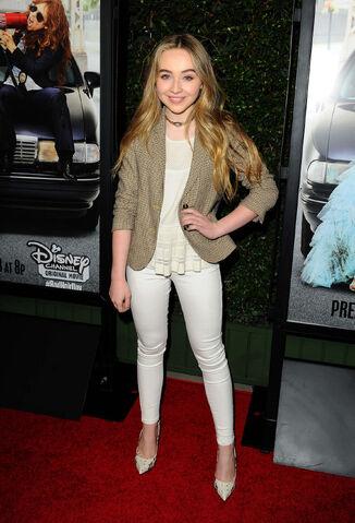 File:Sabrina Carpenter Bad Hair Day Premiere4.jpg