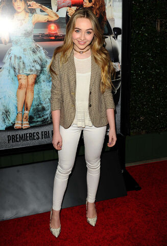 File:Sabrina Carpenter Bad Hair Day Premiere1.jpg