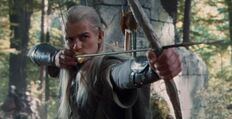 Bow of the Galadhrim as being use by Legolas