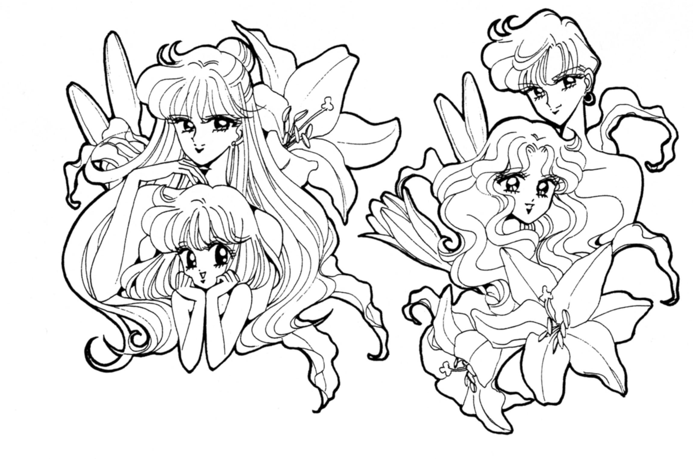 Sa sailor moon coloring games online - Gallery