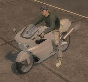 Kenshin - front left with rider in Saints Row 2