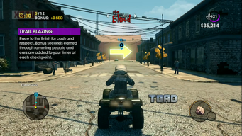 Toad with logo in Trail Blazing in a Saints Row The Third gameplay preview