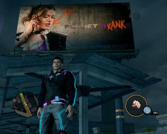 Planet Saints billboard vandalised as Planet Skank