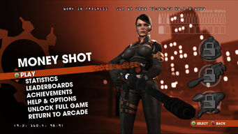 Saints Row Money Shot menu screen