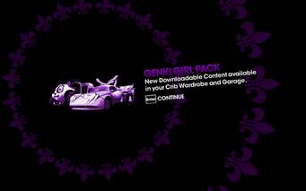 DLC unlock SRTT - Genki Girl Pack