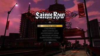 Saints Row Menu in Grand Finale Part Two